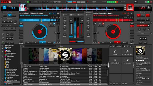 Funciones y botones de Virtual DJ
